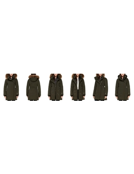 Alsina Fur Trim Asymmetric Front Down Coat   100% Exclusive by Soia & Kyo