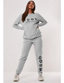 Active Grey Co Ord Msgd Joggers by Missguided