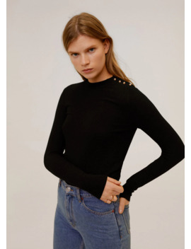 Bead Shoulder Sweater by Mango