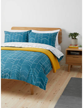 House By John Lewis Elevation Duvet Cover And Pillowcase Set, Fjord, Fjord by House By John Lewis
