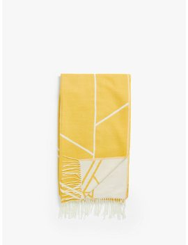 House By John Lewis Elevation Throw, Mustard by House By John Lewis