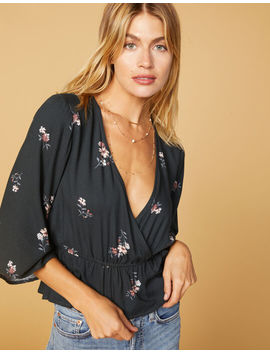 West Of Melrose All Wrapped Up Kimono Sleeve Top by West Of Melrose