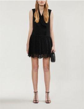 Retro Crepe And Lace Mini Dress by Claudie Pierlot