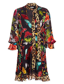 Moore Printed Stretch Silk Shirtdress by Alice + Olivia