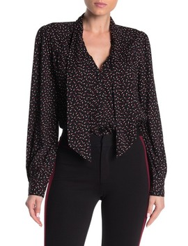 Peteluma Printed Tie Neck Blouse by Paige
