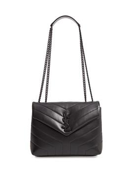 Small Loulou Matelassé Calfskin Shoulder Bag by Saint Laurent