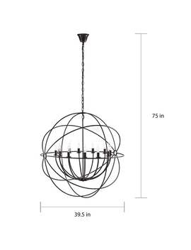 "Atom 39.5"" Chandelier by Modway"