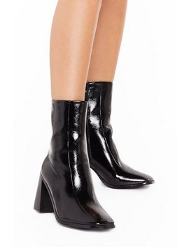 Flare For Dramatics Wide Fit Square Toe Boots by Nasty Gal