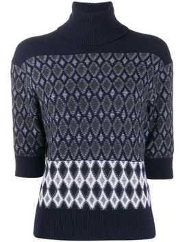 Intarsia Polo Knit Jumper by Chloé