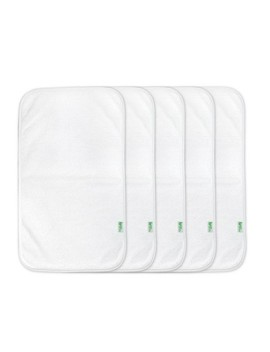 Green Sprouts Stay Dry Burp Pads 5pk White by Green Sprouts