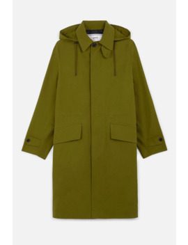 Hooded Mac Coat by Ami Paris
