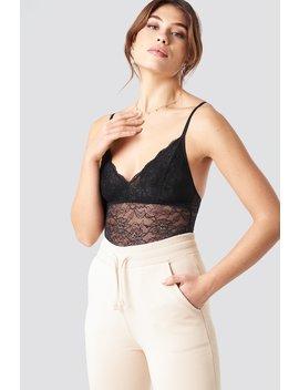 Lace Bodysuit Svart by Pamelaxnakd