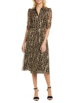 Metallic Leopard Print Shirtdress by Ba&Sh