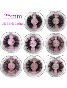 Mikiwi 25mm False Eyelashes Wholesale Thick Strip 25mm 3 D Mink Lashes Custom Packaging Label Makeup Dramatic Long Mink Lashes by Ali Express.Com