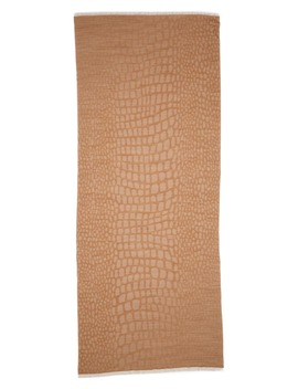 Animal Spot Jacquard Wool Blend Scarf by Max Mara