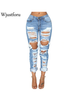 Wjustforu Sexy Ripped Jeans Women Bodycon Fashion Club Hole Denim Pants Female Summer Casual Hollow Out Pencil Jeans Vestidos by Ali Express.Com