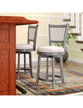 Weathered Gray Topeka Swivel Bar & Counter Stool by Darby Home Co