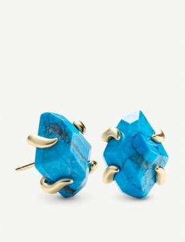 Inaiyah 14ct Gold Plated And Aqua Howlite Earrings by Kendra Scott