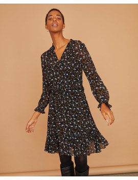 Scattered Ditsy Crinkle Dress by Jigsaw