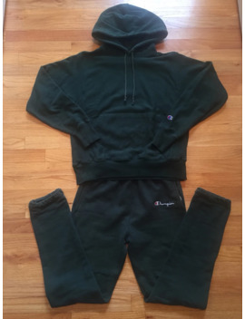 Forest Green Reverse Weave Sweatsuit by Vintage  ×  Champion  ×