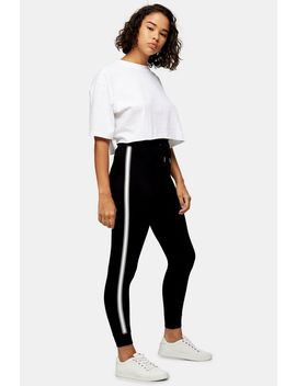 Petite Black Side Stripe Joggers by Topshop