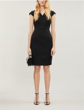 Hartley Tailored Wool Blend Midi Dress by Reiss
