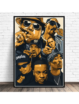 Poster Prints Biggie Notorious 2 Pac Jay Z N.W.A Legend Star Collage Canvas Oil Painting Art Wall Pictures Living Room Home Decor by Ali Express.Com