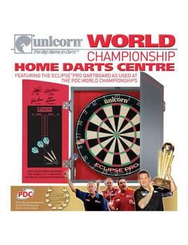 Unicorn World Championship Dartboard, Cabinet And Darts730/7225 by Argos