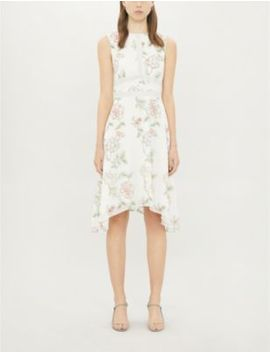 Damita Floral Print Crepe Mini Dress by Ted Baker