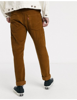 Levi's 502 Tapered Cord Carpenter Trousers In Monks Robe Tan by Levi's