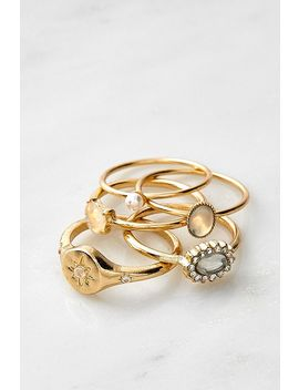 Gemstone Ring Set by Urban Outfitters