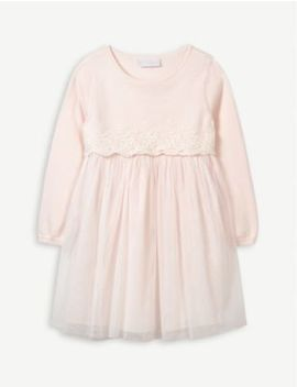 Knitted Tulle Dress 1 6 Years by The Little White Company