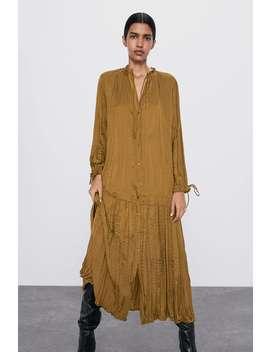 Kleid In Satin by Zara