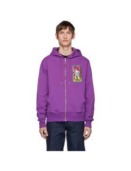 Purple Asspocalypto Zip Hoodie by Carne Bollente
