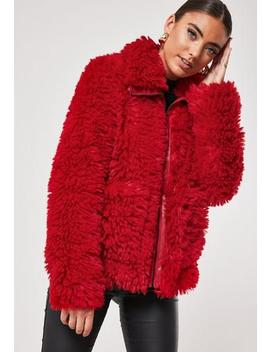 Red Borg Oversized Jacket by Missguided