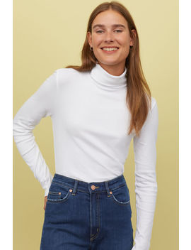 Блуза от трико с поло яка by H&M