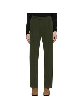 Green Deep Pleat Trousers by Bless