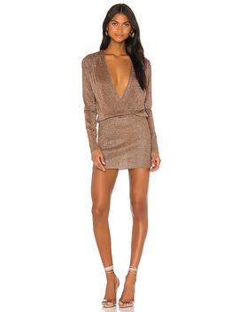 Aura Mini Dress In Mocha Metallic by Superdown