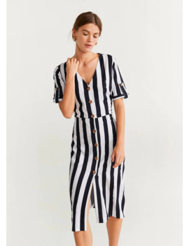 Buttoned Stripped Dress by Mango