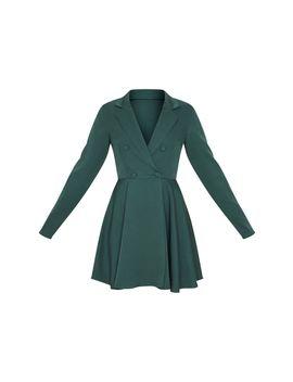Emerald Green Skater Blazer Dress by Prettylittlething