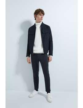Pantaloni Gessati Comfort Knit by Zara