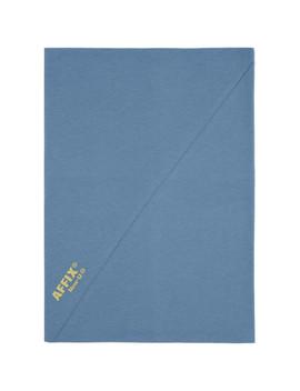 Blue Cotton Neck Gaiter by Affix