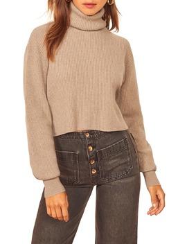 Luisa Crop Cashmere Blend Sweater by Reformation