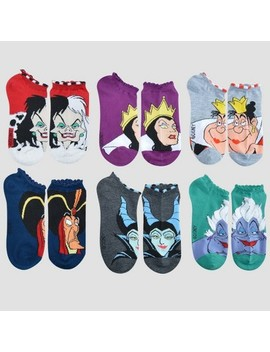 Women's Disney Villains 6pk Low Cut Socks   Colors May Vary One Size by Disney