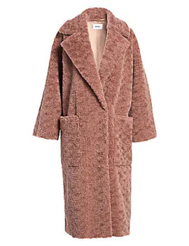 Imogen Faux Fur Teddy Coat by Nanushka