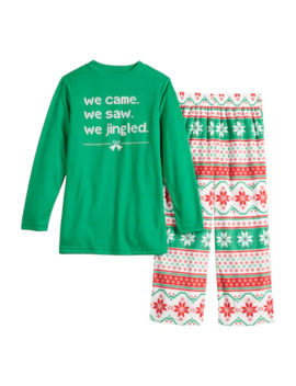 """Boys 4 20 Jammies For Your Families """"We Jingled"""" Top & Bottoms Pajama Set by Jammies For Your Families"""