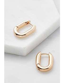 Oval Huggie Hoop Earrings by Urban Outfitters
