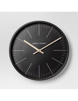 Decorative Wall Clock   Black/Brass   Project 62™ by Shop This Collection