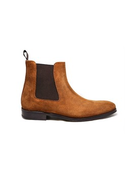 Troy Chelsea Boot Whiskey Wr Suede by Ace Marks