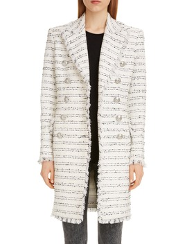 Double Breasted Tweed Coat by Balmain